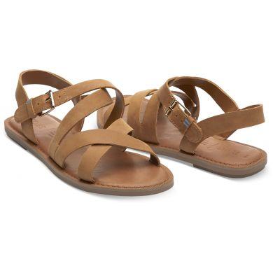 Dámské hnědé sandálky TOMS Tan Leather Sicily Sandals