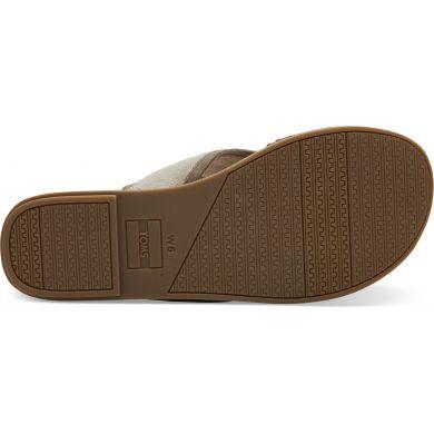 Dámské hnědé pantofle TOMS Suede Val Sandals