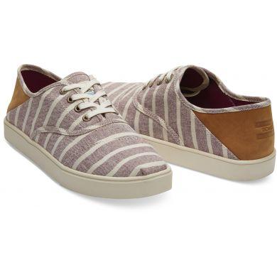 Pánské béžovohnědé pruhované tenisky TOMS Cordones Sneakers