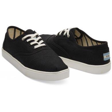 Pánské černé tenisky TOMS Black Heritage Cordones