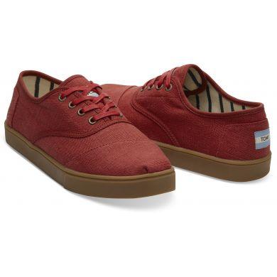 Pánské červené tenisky TOMS Canvas Cordones