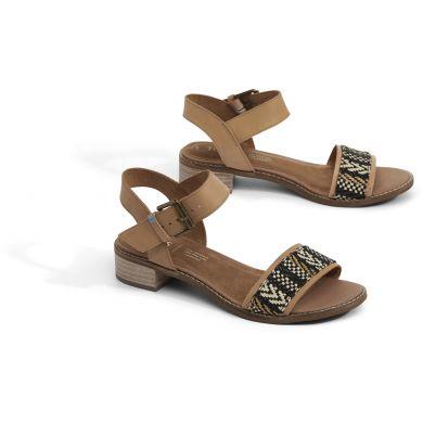 Dámské hnědé sandály na podpatku TOMS Camilia Sandals