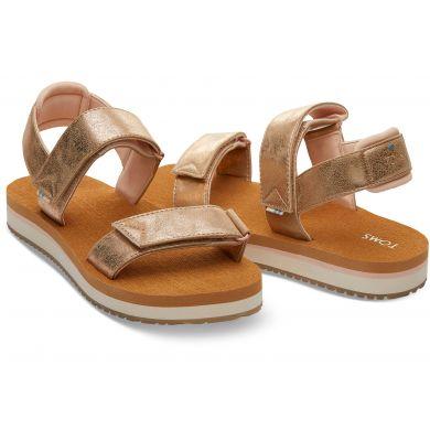 Dámské zlaté sandály TOMS Ray Sandals