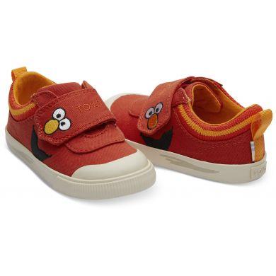 Dětské červené tenisky TOMS Sesame Street Elmo Tiny Doheny Sneakers
