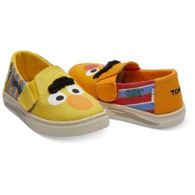 Dětské žluté TOMS Sesame Street Elmo Tiny Luca Slip-on