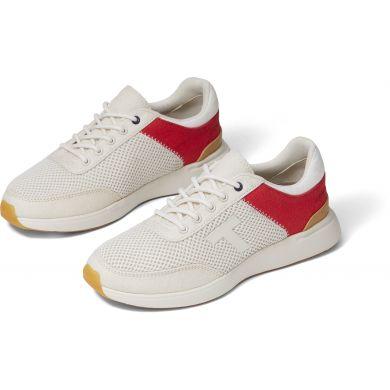 Dámské bílo-červené tenisky TOMS Arroyo