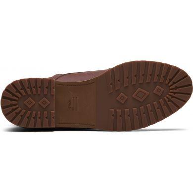 Dámské hnědé kožené kotníkové boty TOMS Nolita
