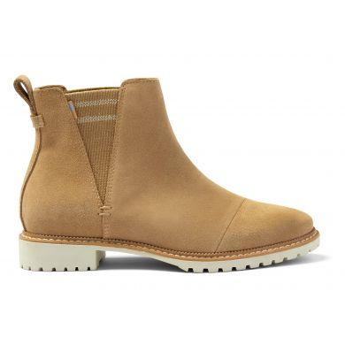 Dámské světle hnědé semišové kotníkové boty TOMS Cleo