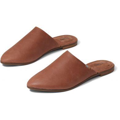 Dámské hnědé kožené pantofle TOMS Jutti Mule