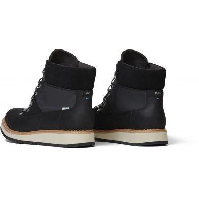 Dámské černé nepromokavé kotníkové boty TOMS Mesa