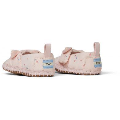 Dětské růžové boty s hvězdičkami TOMS Tiny Crib Alpargata