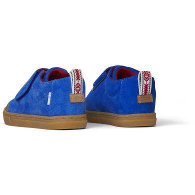 Dětské modré semišové tenisky TOMS Lenny Mid