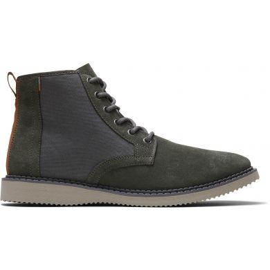 Pánské olivově zelené semišové kotníkové boty TOMS Porter