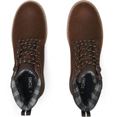 Pánské hnědé nepromokavé kotníkové boty TOMS Ashland