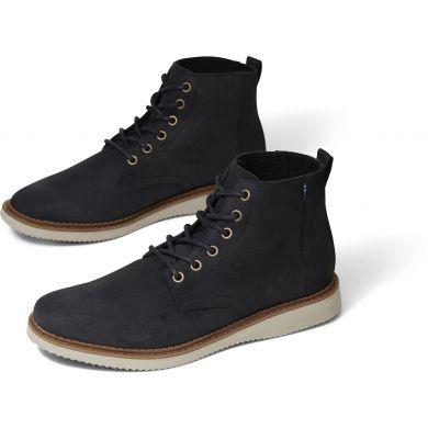 Pánské černé semišové kotníkové boty TOMS Porter