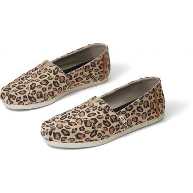 Dámské béžové espadrilky s leopardím vzorem TOMS Alpargata