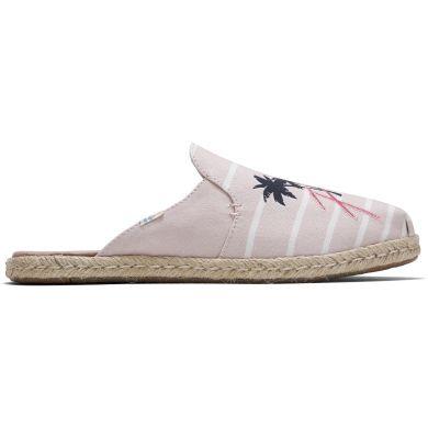 Dámské růžové pantofle s ozdobnou výšivkou TOMS Nova