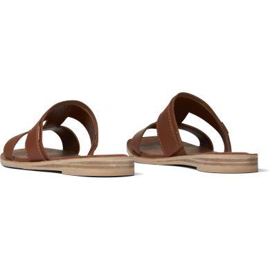 Dámské hnědé kožené pantofle TOMS Seacliff