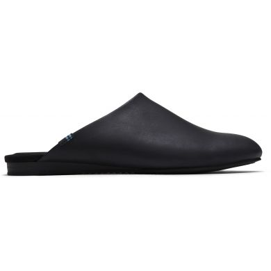 Dámské černé kožené pantofle TOMS Kelli Mule