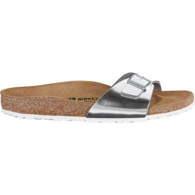 Stříbrné pantofle Birkenstock Madrid Leather