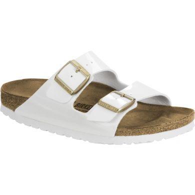 Bílé pantofle Birkenstock Arizona Birko-Flor Patent