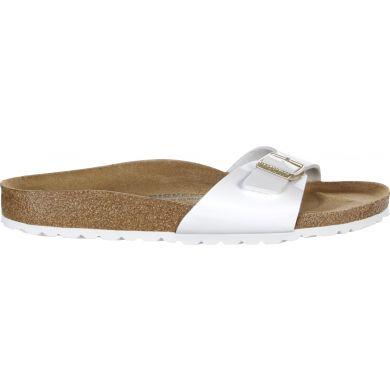 Bílé pantofle Birkenstock Madrid Birko-Flor Patent
