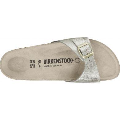 Zlaté pantofle Birkenstock Madrid Washed Suede