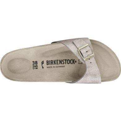 Růžově zlaté pantofle Birkenstock Madrid Washed Suede
