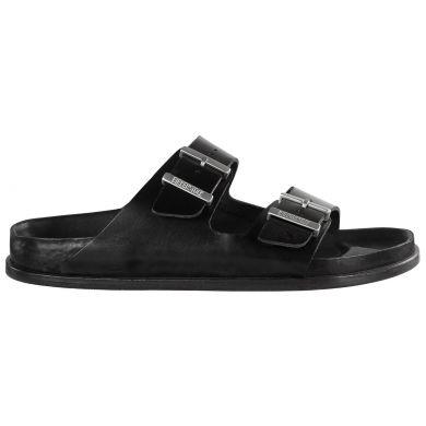 Černé pantofle Birkenstock Arizona Premium Leather