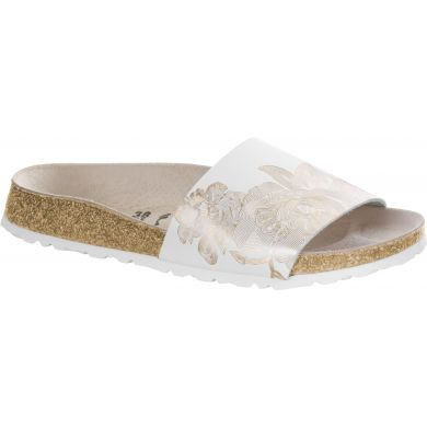 Bílé pantofle Birkenstock Cora Leather Ornaments