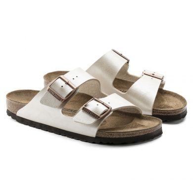 Bílé pantofle Birkenstock Arizona Birko-Flor Graceful