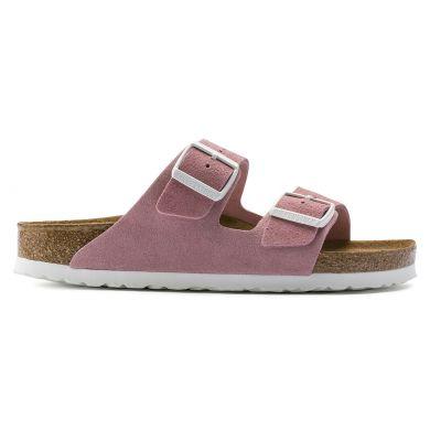 Růžové pantofle Birkenstock Arizona SFB Suede Leather
