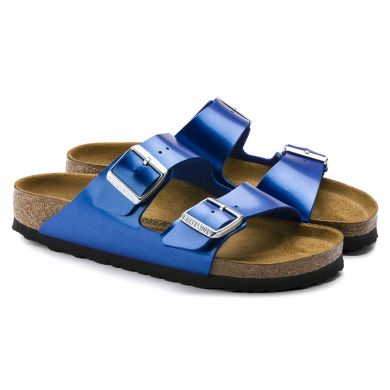 Modré pantofle Birkenstock Arizona Birko-Flor Electric Metallic