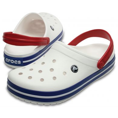 Crocband White/Blue Jean