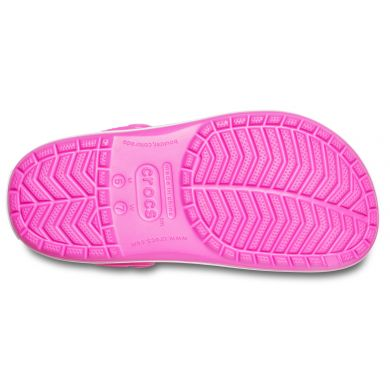Crocband Electric Pink/White