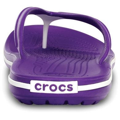 Crocband Flip  Neon Purple/White