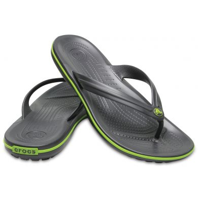 Crocband Flip  Graphite/Volt Green