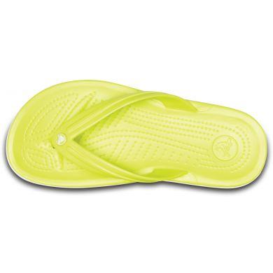 Crocband Flip  Tennis Ball Green/White