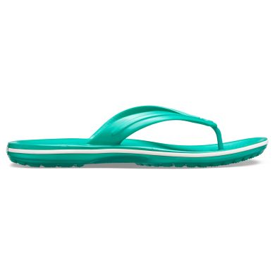 Crocband Flip  Deep Green/White