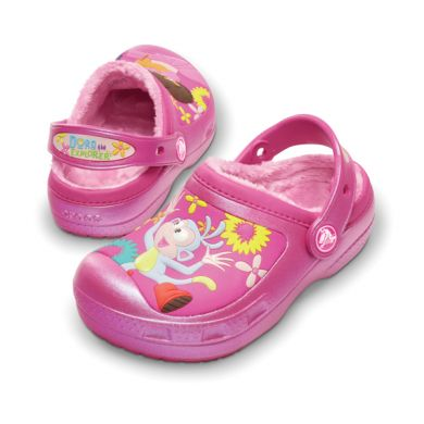 Dora Lollipops & Flowers Lined Clog