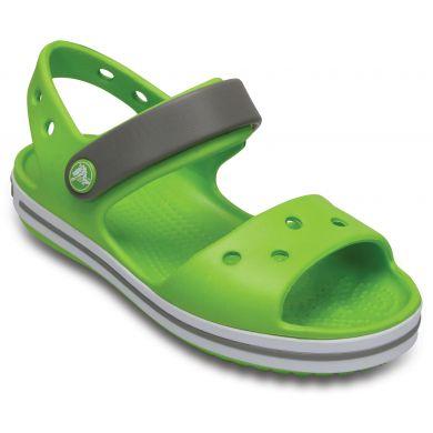 Crocband Sandal Kids Volt Green/Smoke