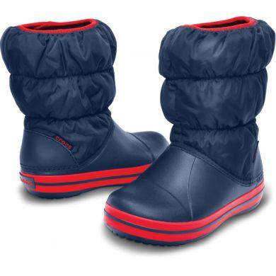 Winter Puff Boot Kids Navy/Red