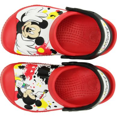 Mickey Paint Splatter Clog
