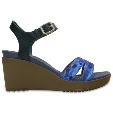 LeighII AnkleStrap Graphic Wedge