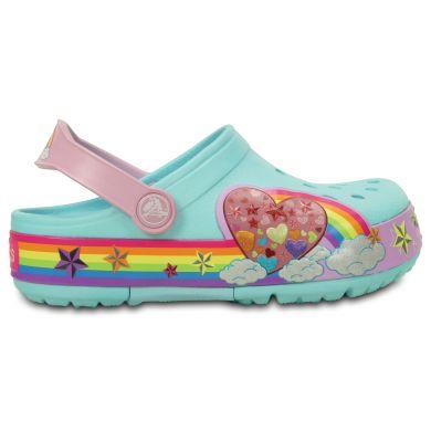 CrocsLights Rainbow Heart Clog K
