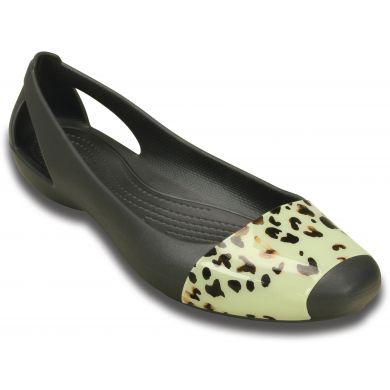 Crocs Sienna Leopard Fade Flat