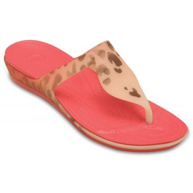 Crocs Rio Leopard Fade Flip