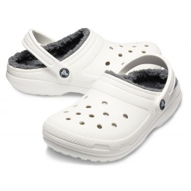 Classic Lined Clog White/Grey