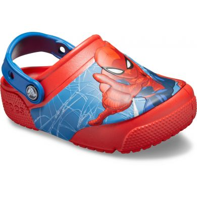 CrocsFL SpiderMan Lts Clg K Flame