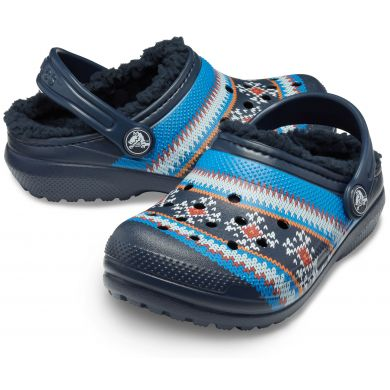 Classic Printed Lined Clog K Navy